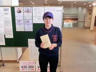 泉田琴菜 選手 2019年 ISPS HANDA CUP女その⑧ で2位